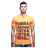 Holland Almost V-Neck T-Shirt // Orange 100% cotton
