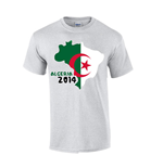 Algeria 2014 Country Flag T-shirt (grey)