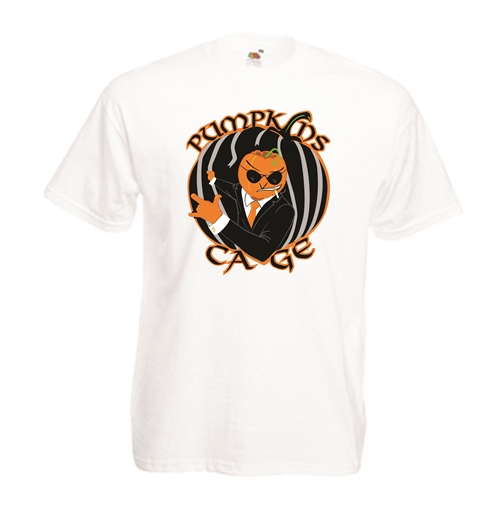 Transfer Printed T-shirt - PumpKins Cage