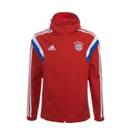 2014-15 Bayern Munich Adidas Travel Jacket (Red)