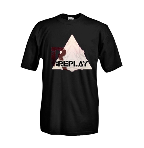 Round necked t-shirt with flex printing - The Replay