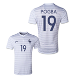2014-15 France World Cup Away Shirt (Pogba 19) - Kids