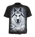 SPIRAL White Wolf T-Shirt, Short Sleeve, Adult Male, Extra Large, Black