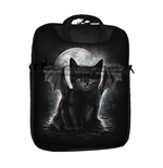 SPIRAL Bat Cat Tablet Shoulder Bag for 10 inch, Black, Large