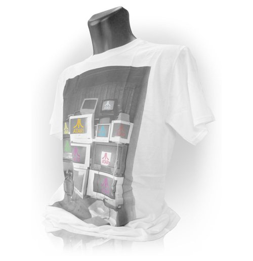 ATARI Computer Screens Mens Large T-Shirt, White