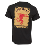 Fireball Cinnamon Whiskey Bottle Label T-Shirt