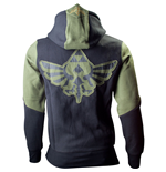 NINTENDO LEGEND OF ZELDA Extra Extra Large Men's Hoodie with Zelda Back Design, Green/Black