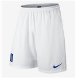 2014-15 Greece Nike Home Shorts (White)