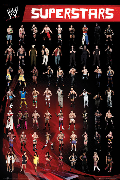 WWE Superstars Maxi Poster