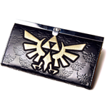 NINTENDO LEGEND OF ZELDA Girls Wallet with Gold Bird Logo, Black