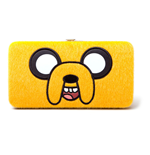 ADVENTURE TIME Jake Furry Big Face Girl Hinge Purse Wallet, Yellow