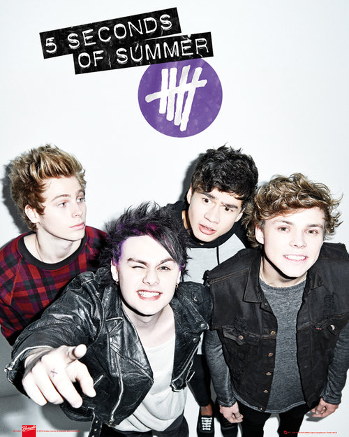5 Seconds of Summer Single Cover Mini Poster