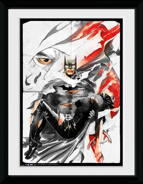 Batman Comic Rip Framed Collector Print