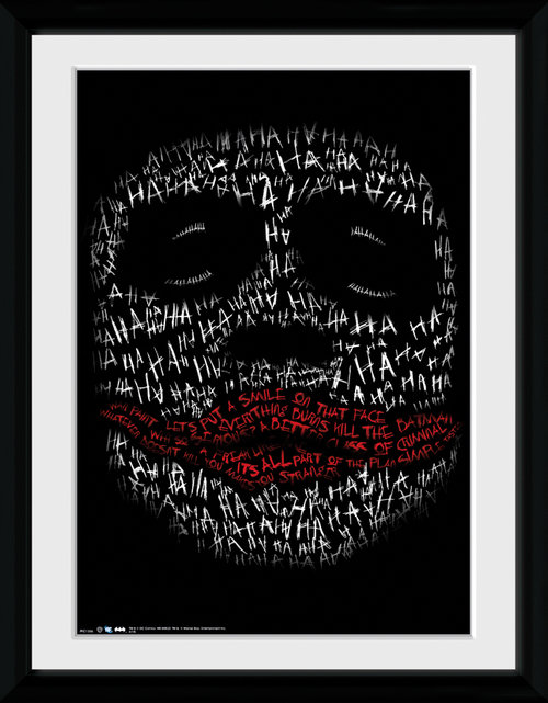 Batman The Dark Knight Rises Joker Haha Type Framed Collector Print
