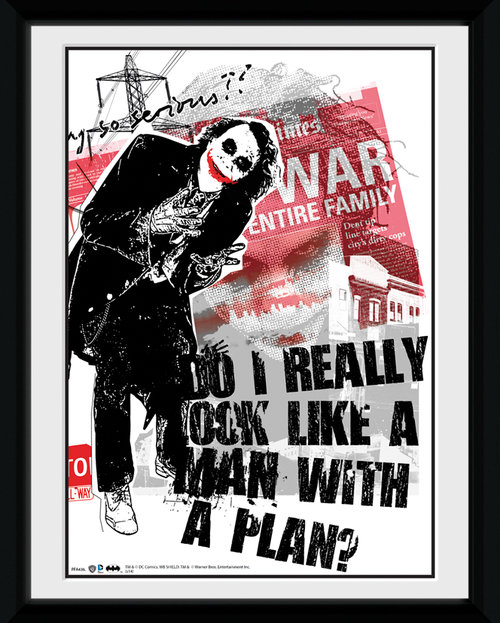 Batman The Dark Knight Rises Man With A Plan Framed Collector Print