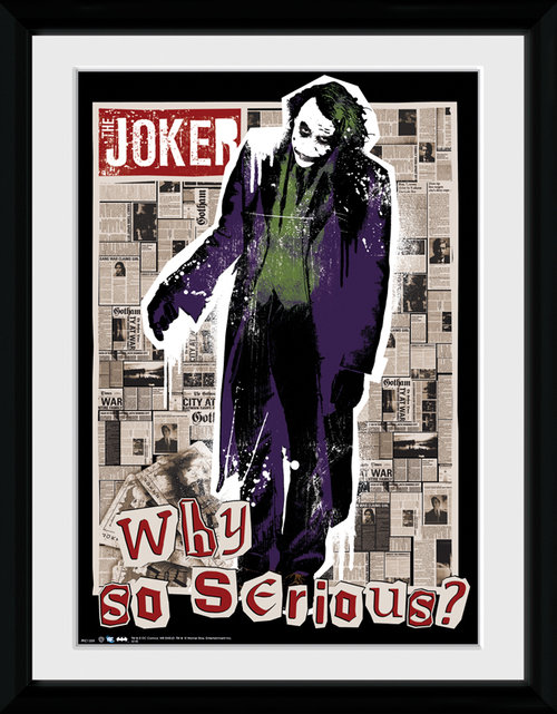 Batman The Dark Knight Rises Why So Serious Framed Collector Print