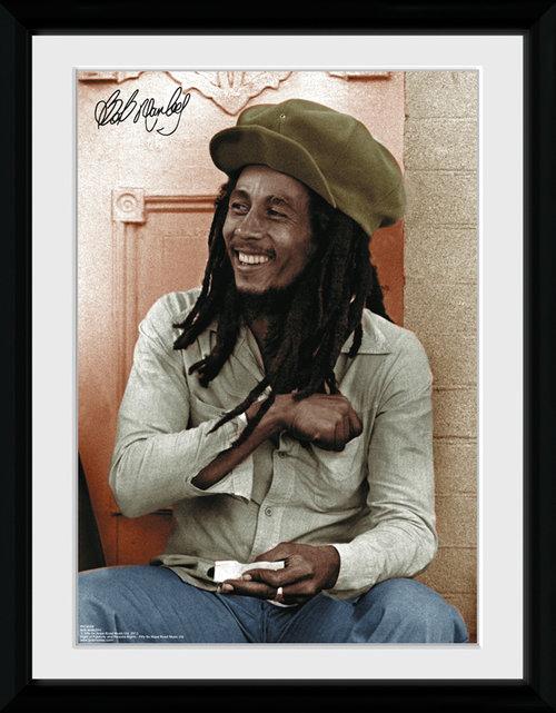 ... Music Reggae Bob Marley Bob Marley Rolling Framed Collector Print