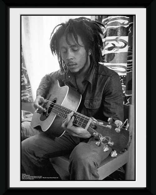 Bob Marley Guitar Framed Collector Print