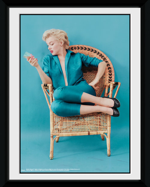 Marilyn Monroe Blue Framed Collector Print