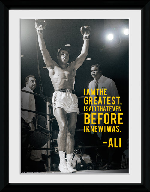 Muhammad Ali I Am The Greatest Framed Collector Print