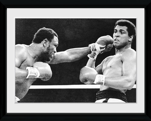 Muhammad Ali Block Framed Collector Print