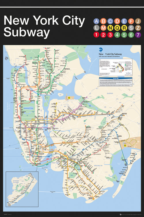 New York Subway Map Maxi Poster