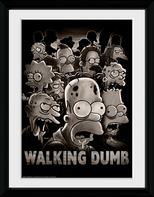 The Simpsons The Walking Dumb Framed Collector Print
