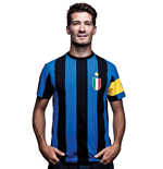 Inter Capitano T-Shirt // Black Blue 100% cotton