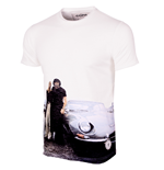 E-type All Over Print T-Shirt // White 100% cotton