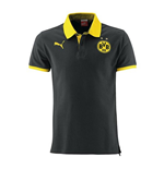 2014-15 Borussia Dortmund Puma Cotton Polo Shirt (Black) - Kids