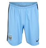 2014-2015 Man City Home Nike Football Shorts (Kids)