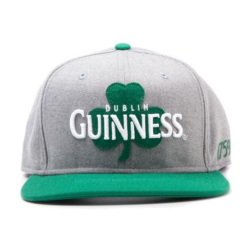 Buy Guinness Dublin Shamrock Snapback Baseball Cap Grey Green