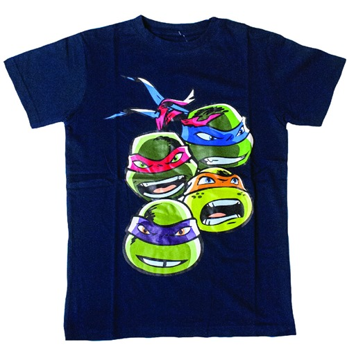 TEENAGE MUTANT NINJA TURTLES (TMNT) Kid's Faces T-Shirt, 128/134, Blue