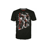 TRANSFORMERS Fall of Cybertron Megatron Rain Large T-Shirt, Black