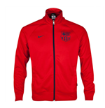 2014-2015 Barcelona Nike Core Trainer Jacket (Crimson)