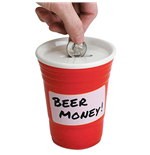 Red Cup Fun Beer Money Bank