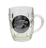 Game of Thrones Beer Glass Stark Metallic Logo
