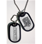 Metal Gear Solid Dog Tags with ball chain Foxhound Logo