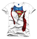 Superman T-Shirt Clark Kent white