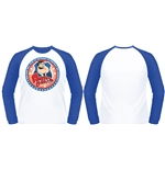 American Dad T-shirt Protect (white & Royal B/BALL)