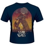 Star Wars T-shirt Sunset Poster (BLUE)