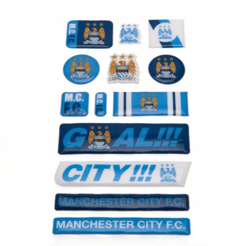 Manchester City F.C. Bubble Sticker Set