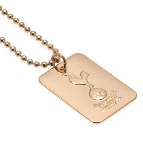 Tottenham Hotspur F.C. Gold Plated Dog Tag & Chain