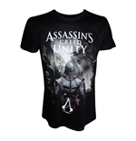 ASSASSIN'S CREED Unity Arno on Streets of Paris Large T-Shirt, Adult Male, Black