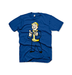 FALLOUT Vault Boys Charisma Small T-Shirt, Blue