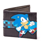 SEGA Sonic The Hedgehog Running Bi-fold Wallet, Black