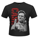 Johnny Cash T-shirt The Bird (RED)