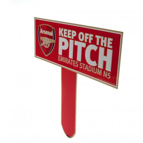 Arsenal F.C. Keep Off The Pitch Sign