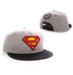 Superman Adjustable Cap Vintage Logo grey