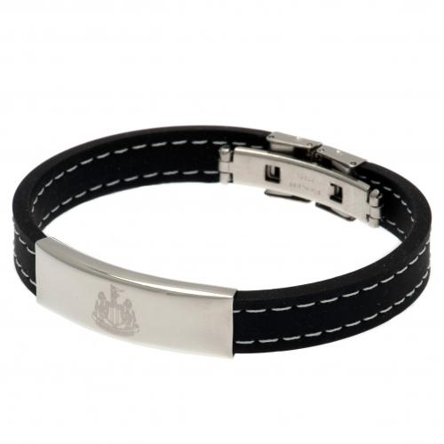 Newcastle United F.C. Stitched Silicone Bracelet